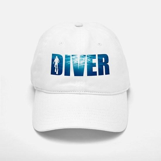 Diver Blue Baseball Baseball Cap