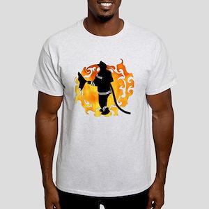 Firefighter Flames Light T-Shirt