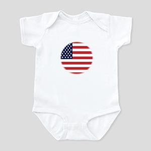 Round USA flag Infant Bodysuit