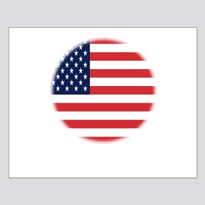 Round USA flag Small Poster