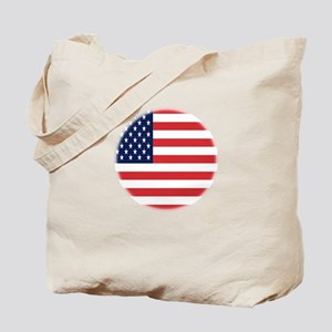 Round USA flag Tote Bag