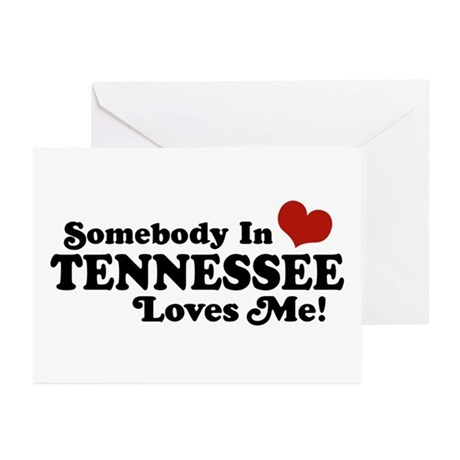 Somebody In Tennessee Loves Me Greeting Cards (Pk