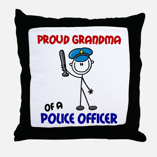 Proud Grandma 1 (Police Officer) Throw Pillow