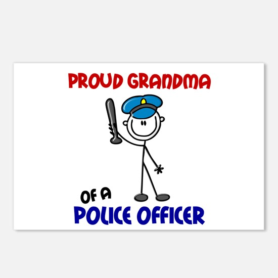 Proud Grandma 1 (Police Officer) Postcards (Packag