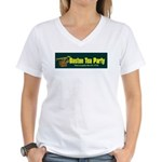 Horizontal Women's V-Neck T-Shirt
