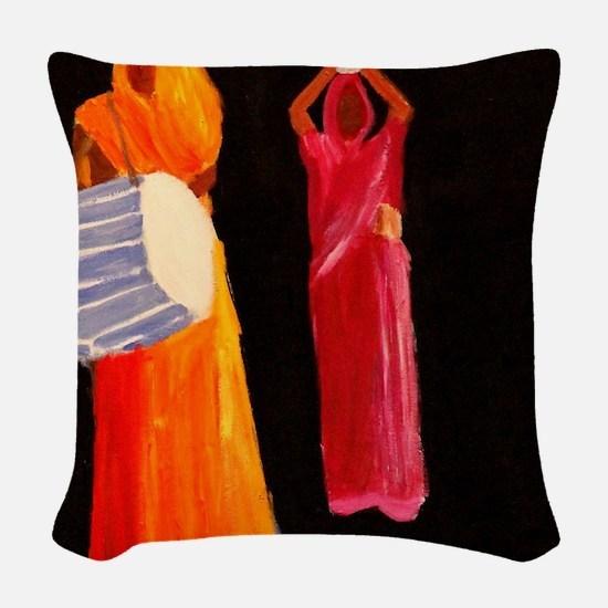 Diwali celebration Woven Throw Pillow
