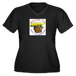 Tennessee Women's Plus Size V-Neck Dark T-Shirt