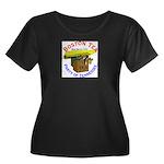 Tennessee Women's Plus Size Scoop Neck Dark T-Shir