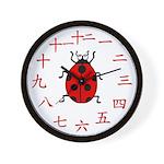 Ladybug Chinese Number Wall Clock