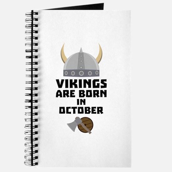Vikings are born in October Cv005 Journal
