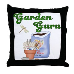 Garden Guru Throw Pillow