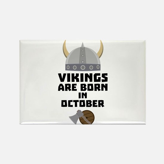 Vikings are born in October Cv005 Magnets