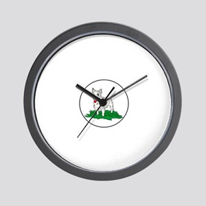 Miniature Bull Terrier Wall Clock