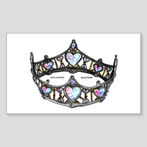 Queen Of Hearts Silver Crown Tiara Sticker