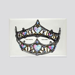 Queen Of Hearts Silver Crown Tiara Magnets