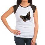 Baltimore Butterfly (Front) Women's Cap Sleeve T-S