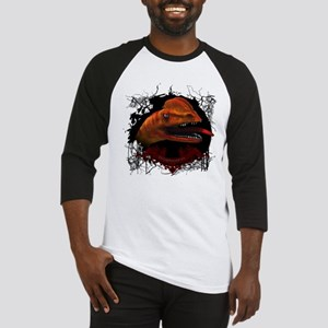 Awesome dilophosaurus in the sunset Baseball Jerse