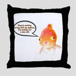 Cranky Goldfish Throw Pillow
