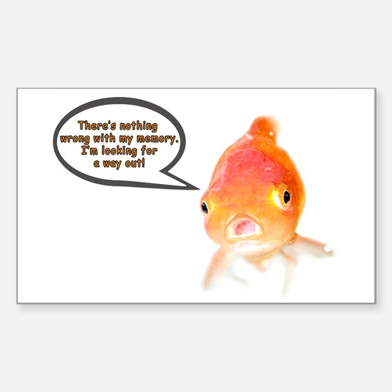 Cranky Goldfish Rectangle Decal