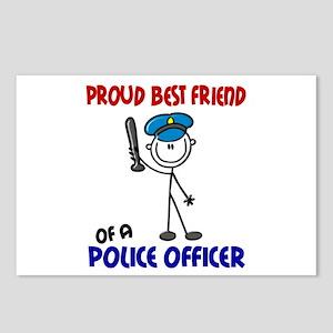 Proud Best Friend 1 (Police Officer) Postcards (Pa
