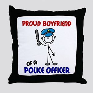 Proud Boyfriend 1 (Police Officer) Throw Pillow