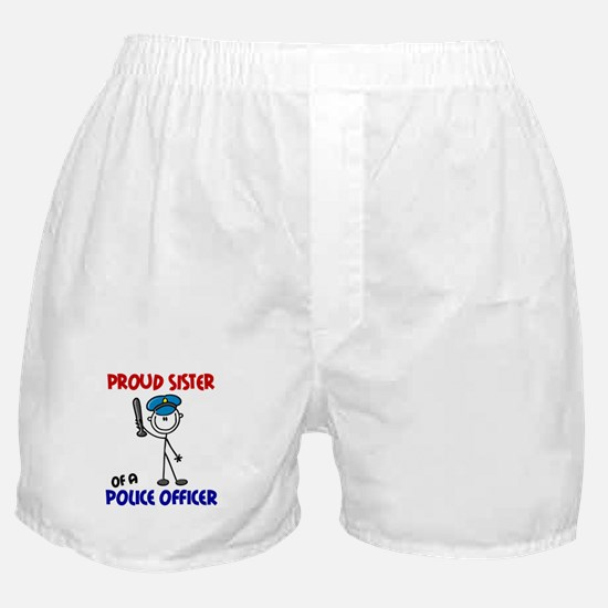 Proud Sister 1 (Police Officer) Boxer Shorts