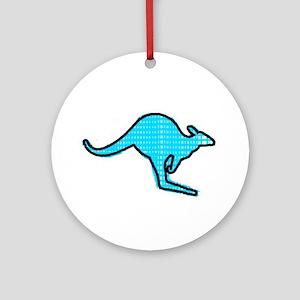 Blue Kangaroo Ornament (Round)