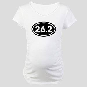 26.2 Marathon Oval Maternity T-Shirt