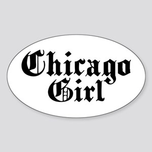 Chicago Girl Oval Sticker