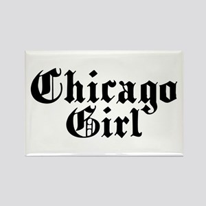 Chicago Girl Rectangle Magnet
