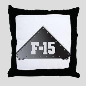 F-15 Fighter Throw Pillow
