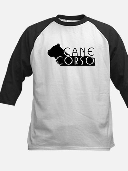 Black Cane Corso Kids Baseball Jersey