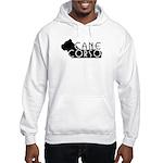 Black Cane Corso Hooded Sweatshirt
