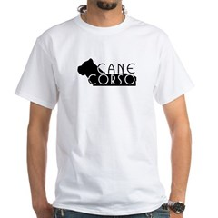 Black Cane Corso White T-Shirt