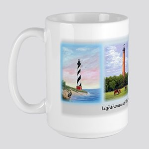 Lighthouses of the Outer Banks Large Mug