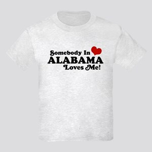 Somebody in Alabama Loves Me Kids Light T-Shirt