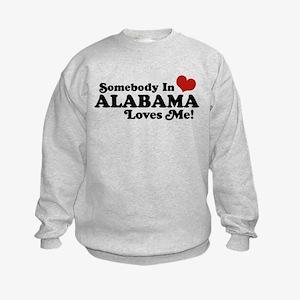Somebody in Alabama Loves Me Kids Sweatshirt