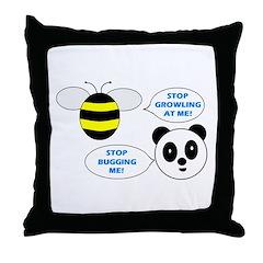 Bee & Panda Attitude/Humor Throw Pillow