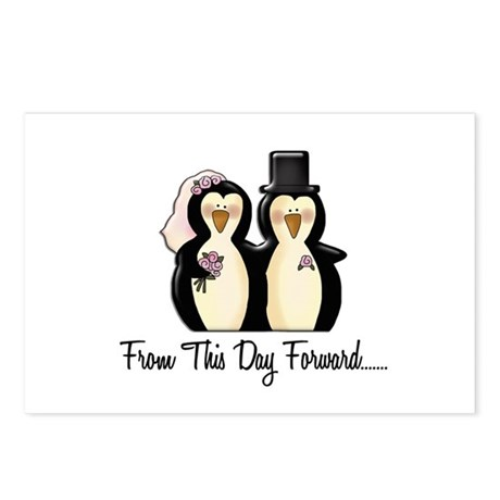 Mr & Mrs Penguin (From This Day Forward) Postcards