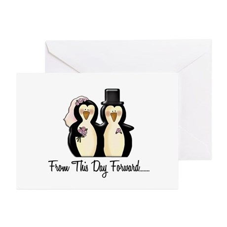 Mr & Mrs Penguin (From This Day Forward) Greeting