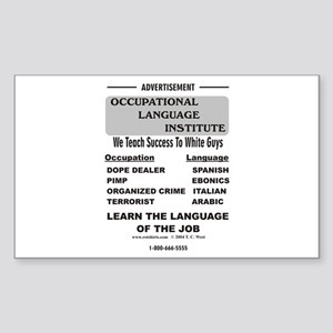 Occupational Language Rectangle Sticker