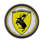 Prancing Moose 17 inch Wall Clock