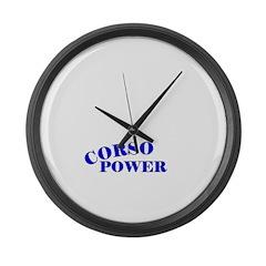 Cane Corso Power Large Wall Clock