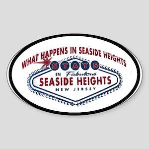 Seaside Heights NJ Oval Sticker