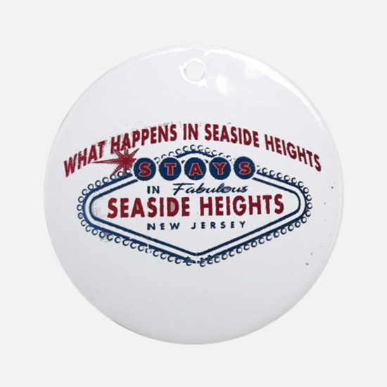 Seaside Heights NJ Ornament (Round)
