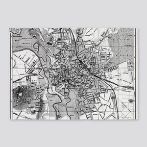 Vintage Map of Hanover Germany (189 5'x7'Area Rug