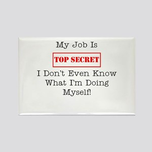 Top Secret Jobs Rectangle Magnet