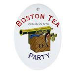 Boston Tea Party national Oval Ornament