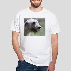 Content Irish Wolfhound White T-Shirt
