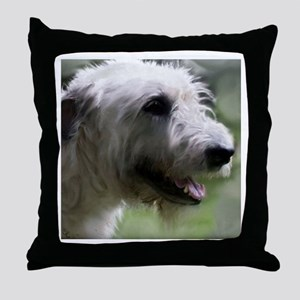 Content Irish Wolfhound Throw Pillow